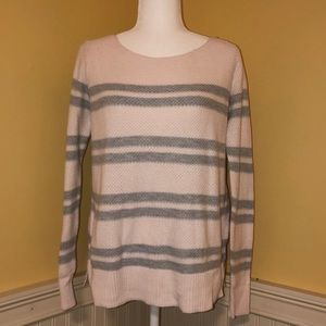 GAP Crew Neck Sweater Pink and Gray Striped